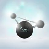 Abstraktes Moleküldesign Stockfoto