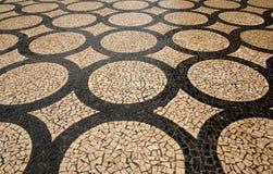 Abstraktes Mosaik deckte Kreise mit Ziegeln stockfotografie