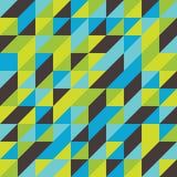 Abstraktes Mosaik deckte Musterhintergrund mit Ziegeln Stockfotografie