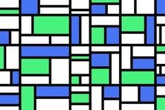 Abstraktes Mosaikmustergitter mit gelegentlichen Farben stockfoto