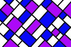 Abstraktes Mosaikmustergitter mit gelegentlichen Farben stockfotografie