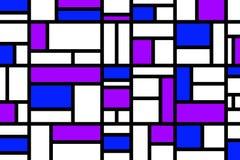 Abstraktes Mosaikmustergitter mit gelegentlichen Farben lizenzfreie stockfotografie