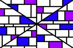 Abstraktes Mosaikmustergitter mit gelegentlichen Farben stockbilder