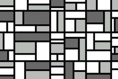 Abstraktes Mosaikmustergitter mit gelegentlichen Farben stockbild