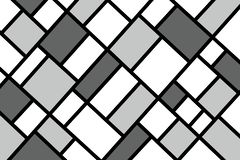 Abstraktes Mosaikmustergitter mit gelegentlichen Farben lizenzfreies stockbild