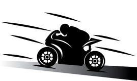 Abstraktes Motorradspur-Abbildung spee Lizenzfreies Stockfoto