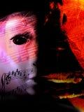 Abstraktes Musikthema (Abdeckung- oder Programmkunst) stockfotos