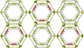 Abstraktes Muster bestanden aus verflochtenen Rahmen Stockfoto