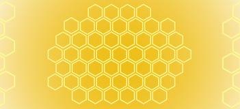 Abstraktes Muster bienenwaben lizenzfreie abbildung