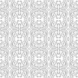 Abstraktes Muster in der arabischen Art Nahtloser vektorhintergrund Graue und weiße Beschaffenheit Lizenzfreies Stockbild