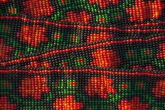 Abstraktes Muster der ethnischen Perlen Stockbilder