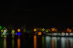 Abstraktes Muster der Nachtstadt lizenzfreie stockbilder