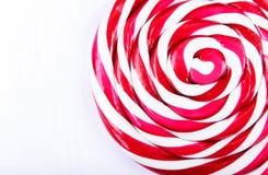 Abstraktes Muster der roten und weißen Süßigkeit Stockfoto