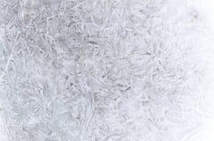 Abstraktes Muster des Eises im Winter Lizenzfreie Stockfotos