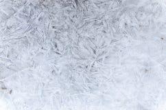 Abstraktes Muster des Eises im Winter Lizenzfreie Stockbilder