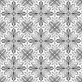 Abstraktes Muster für Färbungsgekritzel Skizze stock abbildung