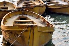 Abstraktes Muster gebildet durch alte Boote Stockbild