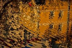 Abstraktes Muster geschaffen durch die Kräuselungen Lizenzfreies Stockfoto