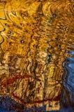 Abstraktes Muster geschaffen durch die Kräuselungen Stockfoto