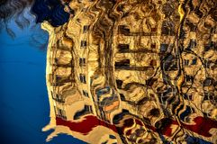 Abstraktes Muster geschaffen durch die Kräuselungen Stockfotografie
