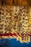 Abstraktes Muster geschaffen durch die Kräuselungen Stockbilder