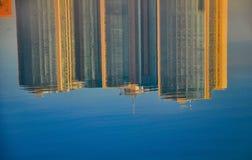 Abstraktes Muster geschaffen durch die Kräuselungen Lizenzfreie Stockfotografie