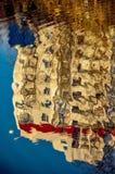 Abstraktes Muster geschaffen durch die Kräuselungen Stockfotos
