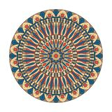 abstraktes Muster im Vektor Die Kombination von Geometrie und von Hand gezeichneten Mustern stock abbildung