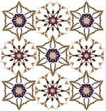 Abstraktes Muster mit stilisierten Blumen stock abbildung