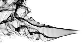 Abstraktes Muster: schwarze Rauchform und -kurven Lizenzfreie Stockfotografie