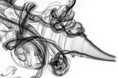 Abstraktes Muster: schwarze Rauchstrudel und -kurven Lizenzfreies Stockbild