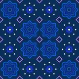 Abstraktes Muster in tiefem blauem Purpurrotem und weiß Stockbild