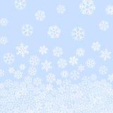 Abstraktes Muster von fallenden Schneeflocken Lizenzfreie Stockfotografie
