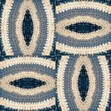 Abstraktes Muster von gewirkten Teilen der Matte Stockbild