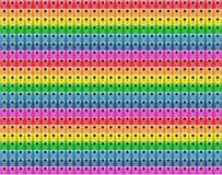 Abstraktes Muster von Regenbogenfarben stockbild