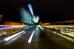 Abstraktes Muster von Stadtlichtern Stockfotografie