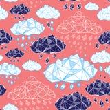 Abstraktes Muster von Wolken lizenzfreie abbildung