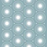 Abstraktes Muster Weiße Schneeflocken Nahtloses vektormuster Stockfotografie
