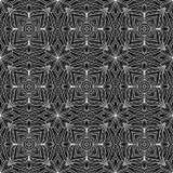 Abstraktes Musterschwarzes und Whitgekritzel vektor abbildung