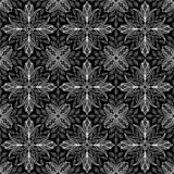 Abstraktes Musterschwarzes und Whitgekritzel stock abbildung