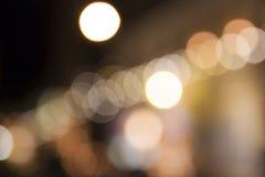 Abstraktes Nacht-Weihnachten-bokeh beleuchtet Hintergrund Lizenzfreies Stockfoto