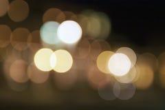 Abstraktes Nacht-Weihnachten-bokeh beleuchtet Hintergrund Lizenzfreie Stockfotografie