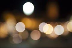 Abstraktes Nacht-Weihnachten-bokeh beleuchtet Hintergrund Lizenzfreie Stockbilder