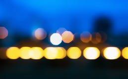 Abstraktes Nachtlicht unscharfer Hintergrund Stockbild