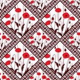 Abstraktes nahtloses Blumen des Patchworks, Musterbeschaffenheits-Lichthintergrund mit dekorativen Elementen Lizenzfreie Stockfotografie