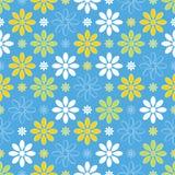 Abstraktes nahtloses Blumenmuster Stockbilder