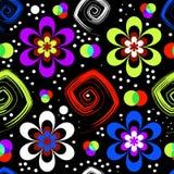Abstraktes nahtloses Blumenmuster (Vektor) lizenzfreie abbildung