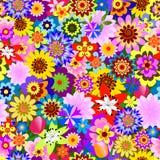Abstraktes nahtloses Blumenmuster (Vektor) Stockfoto
