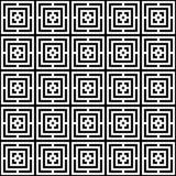 Abstraktes nahtloses buntes Muster Moderner Hintergrund in der Schwarzweiss-Art Stockbild