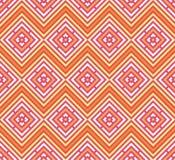 Abstraktes nahtloses buntes Muster Moderner stilvoller Hintergrund mit Rautenelementen Stockfotografie